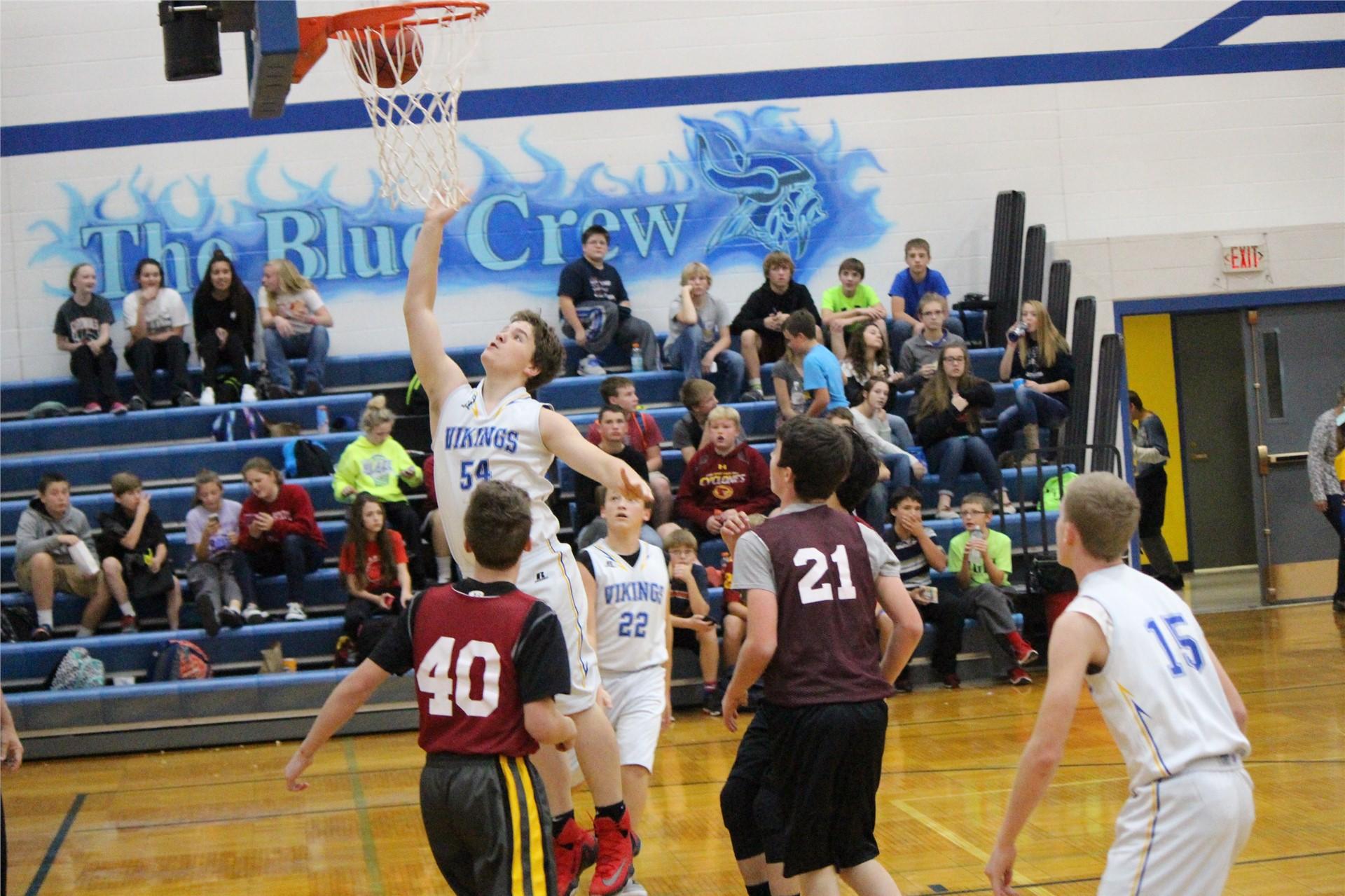 Group of boys playing basketball