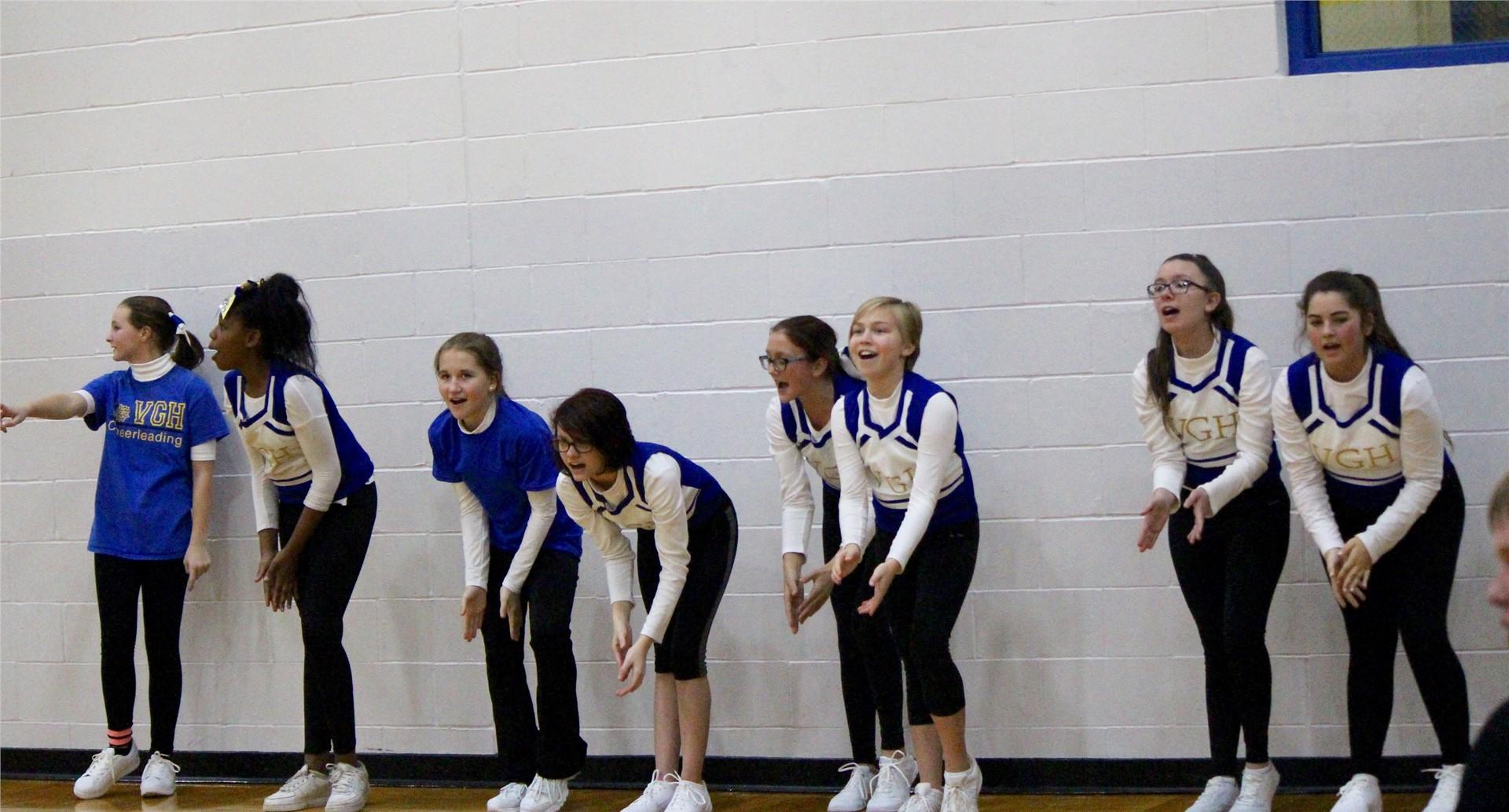 GHVJH Basketball Cheerleading 2016