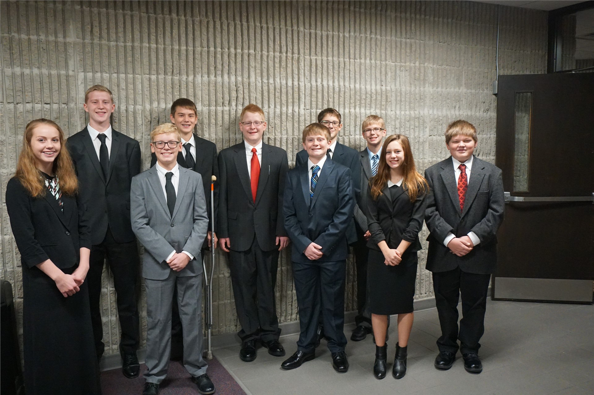 Students on the mock trial team