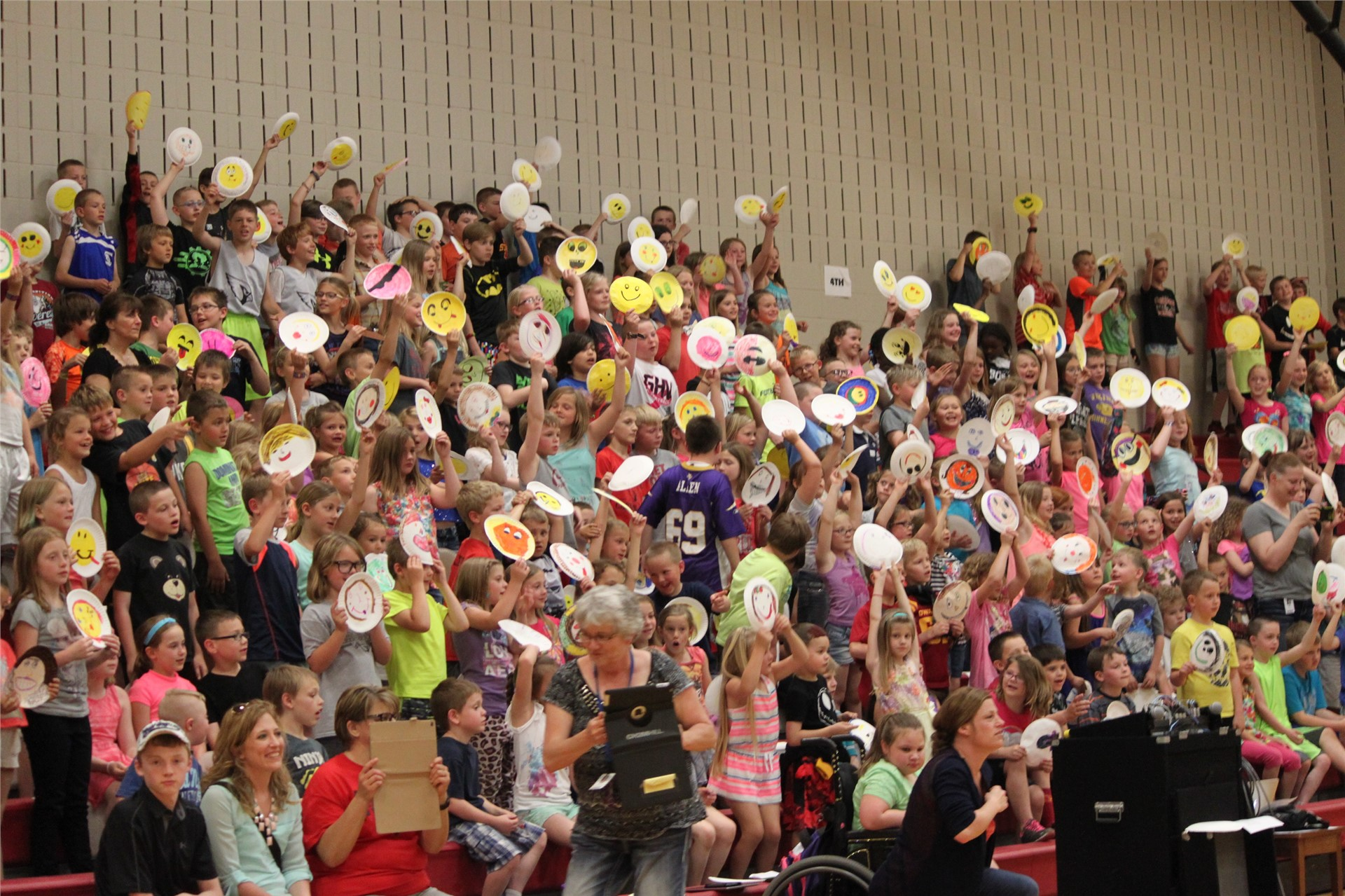 Celebration assembly on the last day of school!