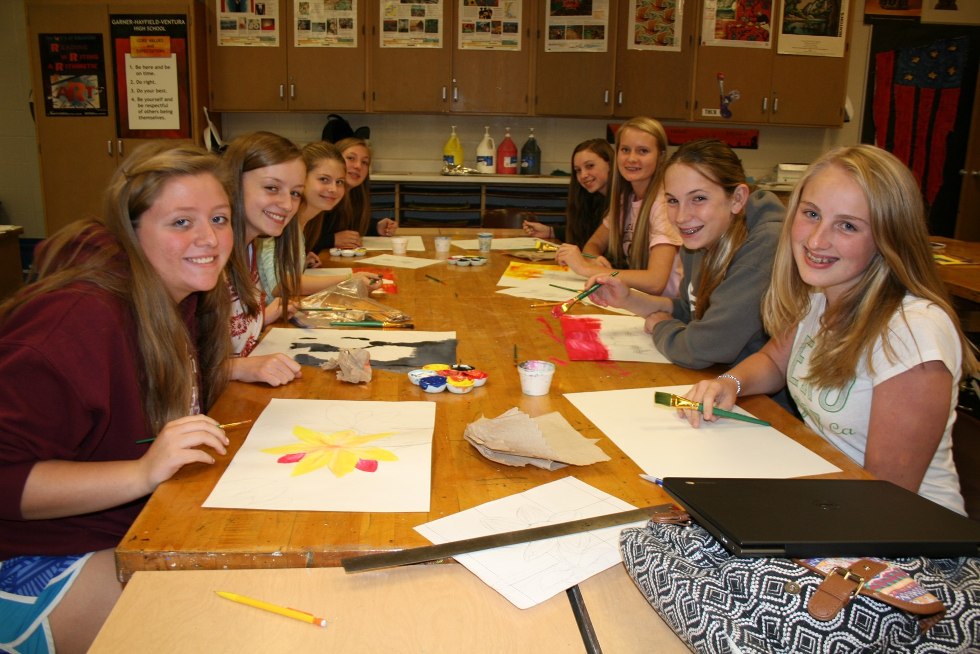 GHVHS Art Class