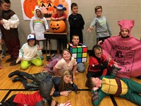 Students dressed in costumes