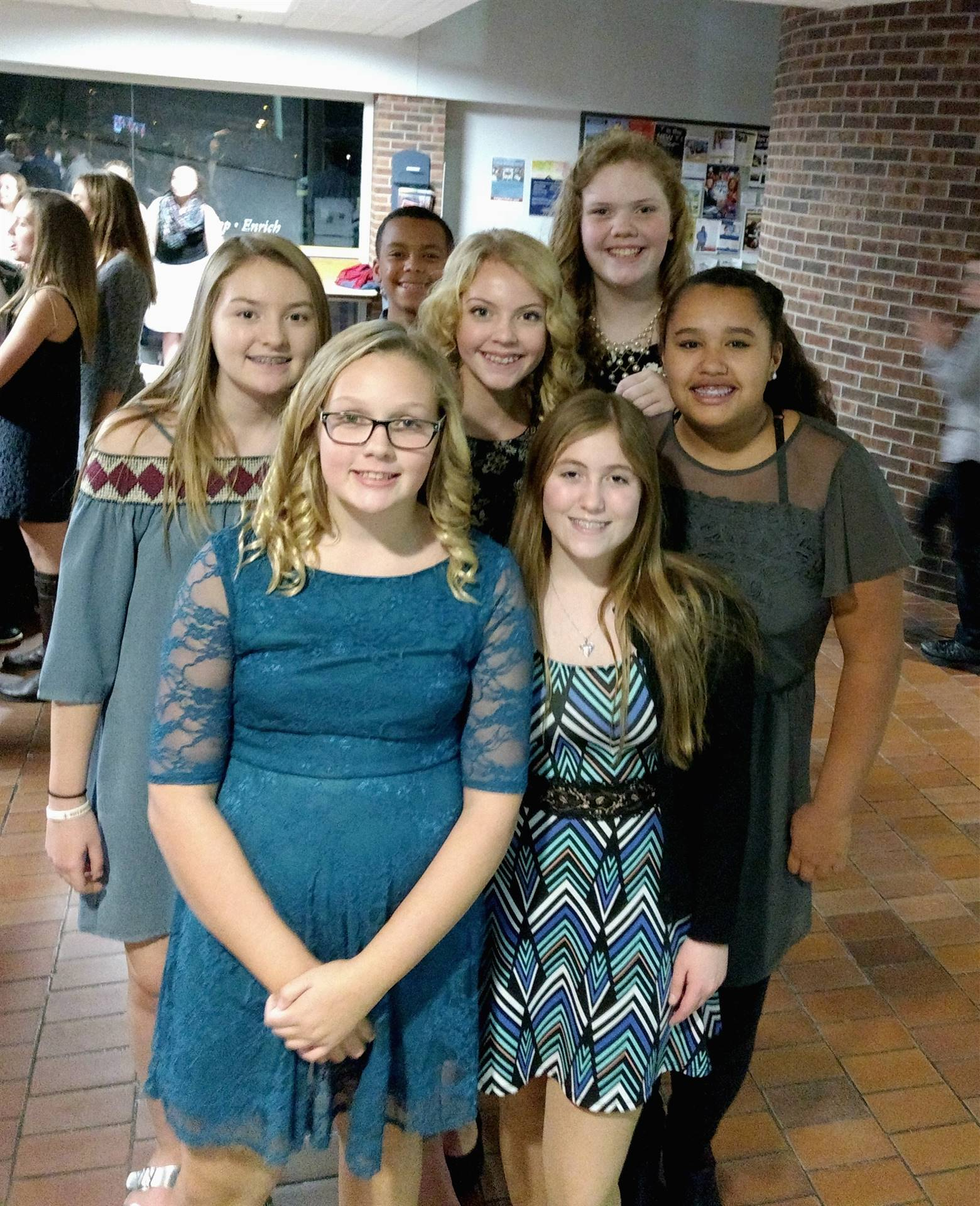 Group of girls getting ready to participate in the North Central Iowa ICDA Honor Choir