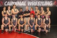 Wrestling team posing for a team photo