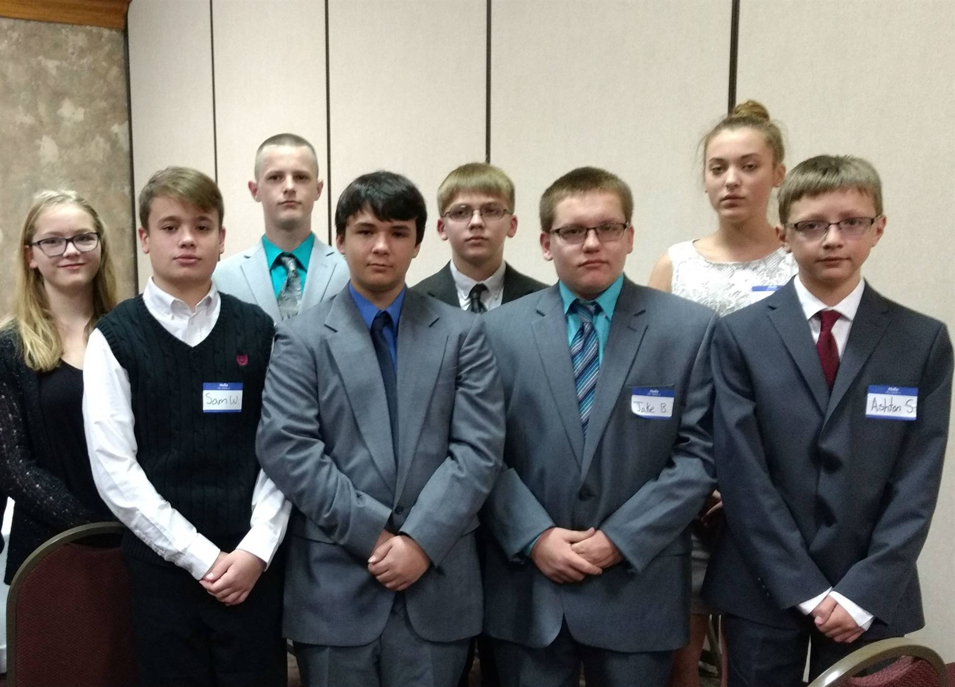 A group of students at Mock Trial competition