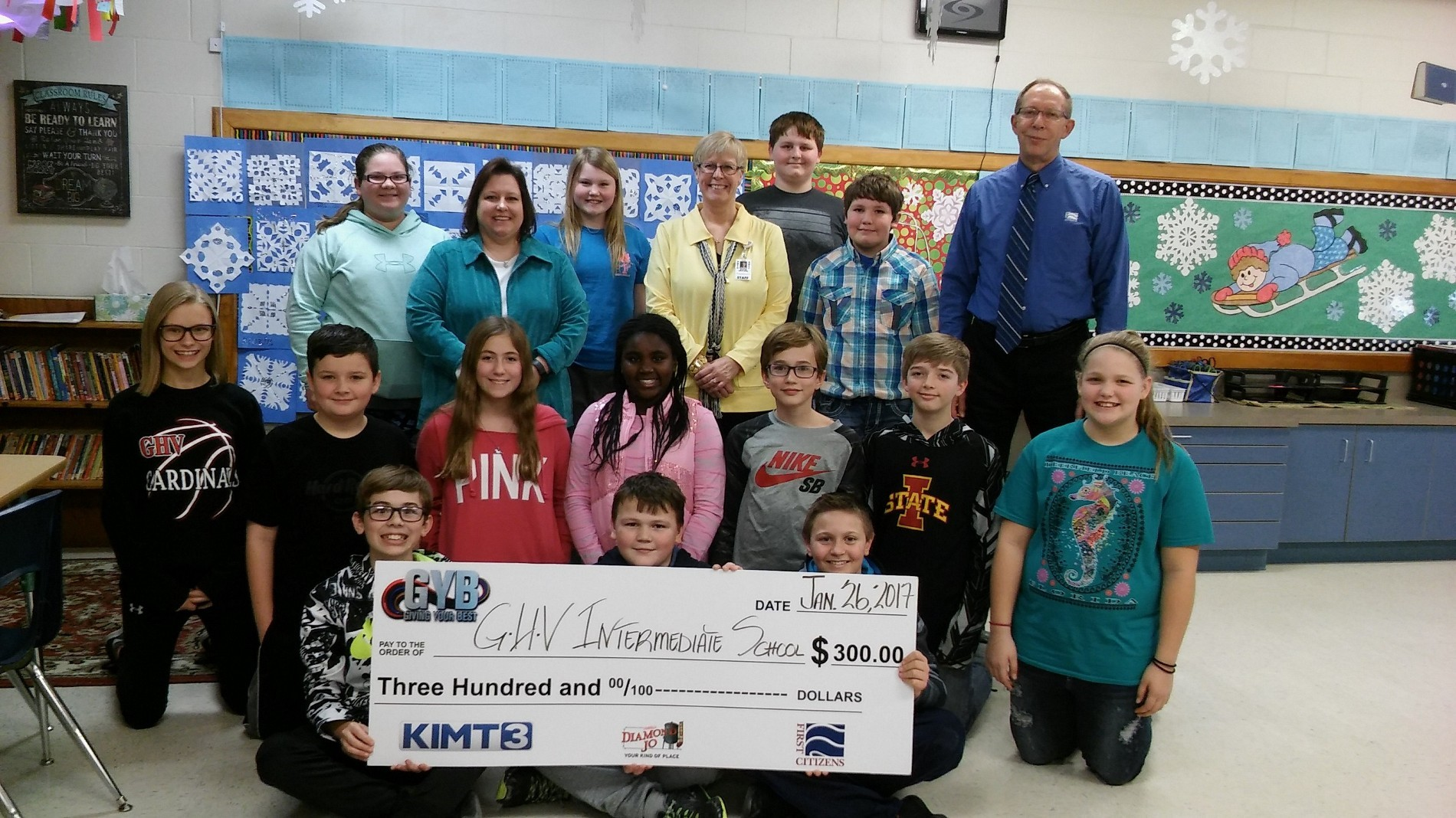 Mrs. Heitland's class was awarded $300 for Tools for Schools!