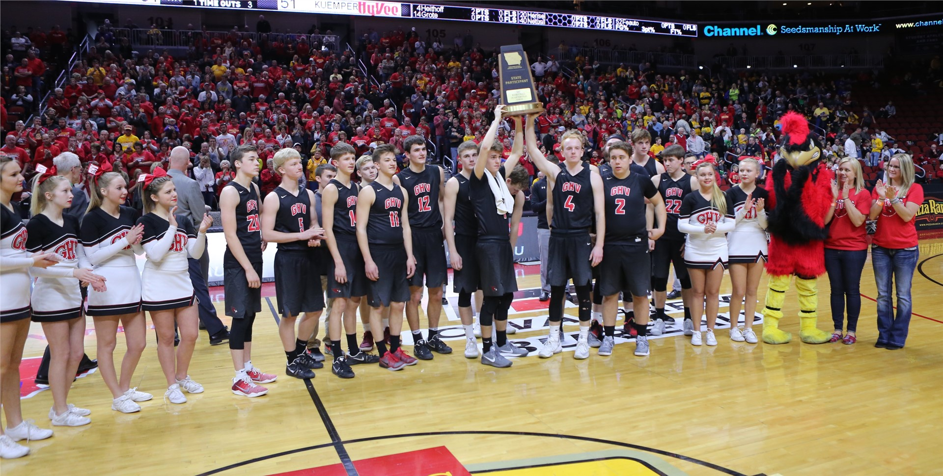 GHV Boys Basketball at the 2017 Iowa State Basketball Tourney
