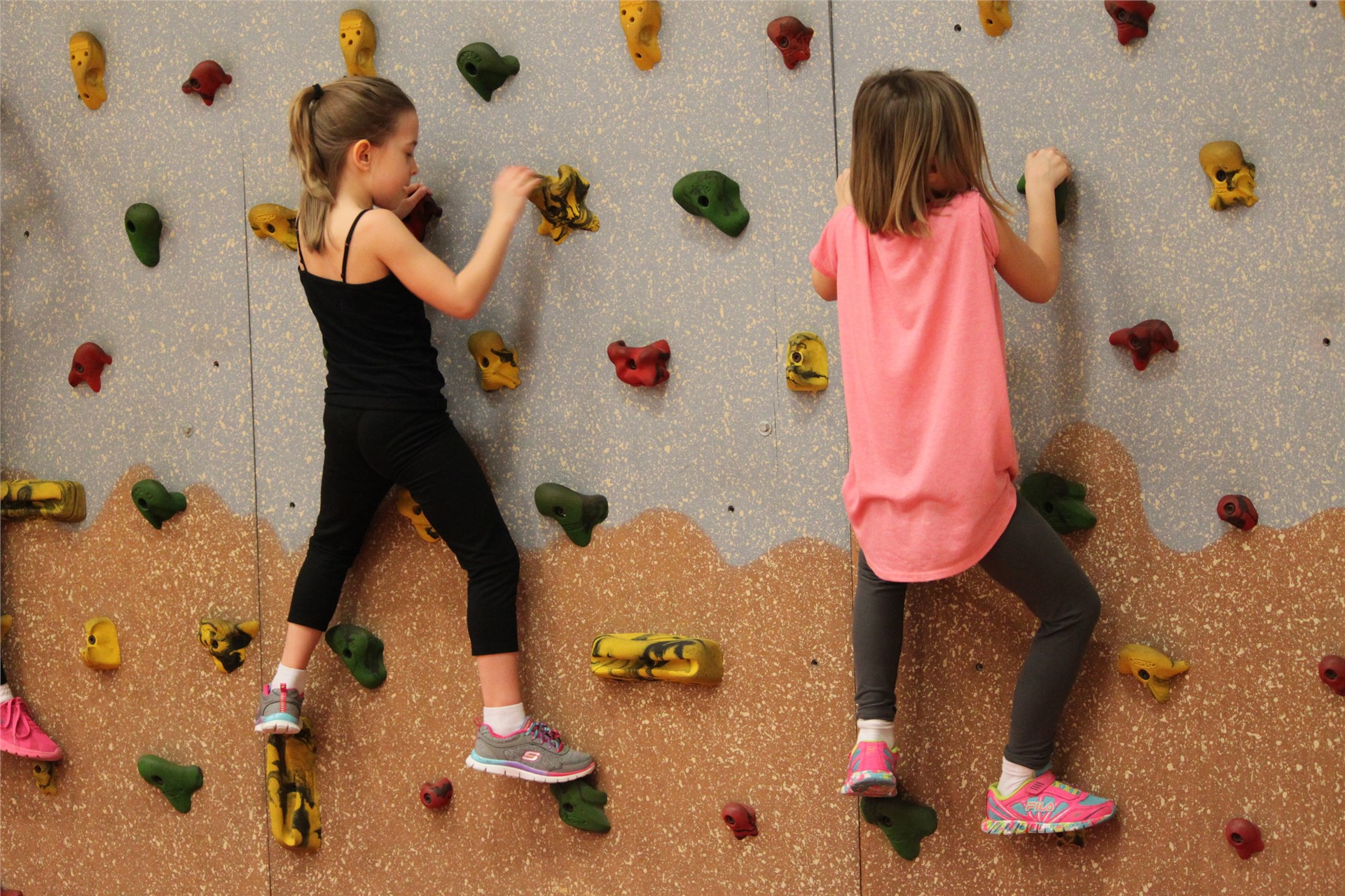 Rock Wall Climbing in PE!