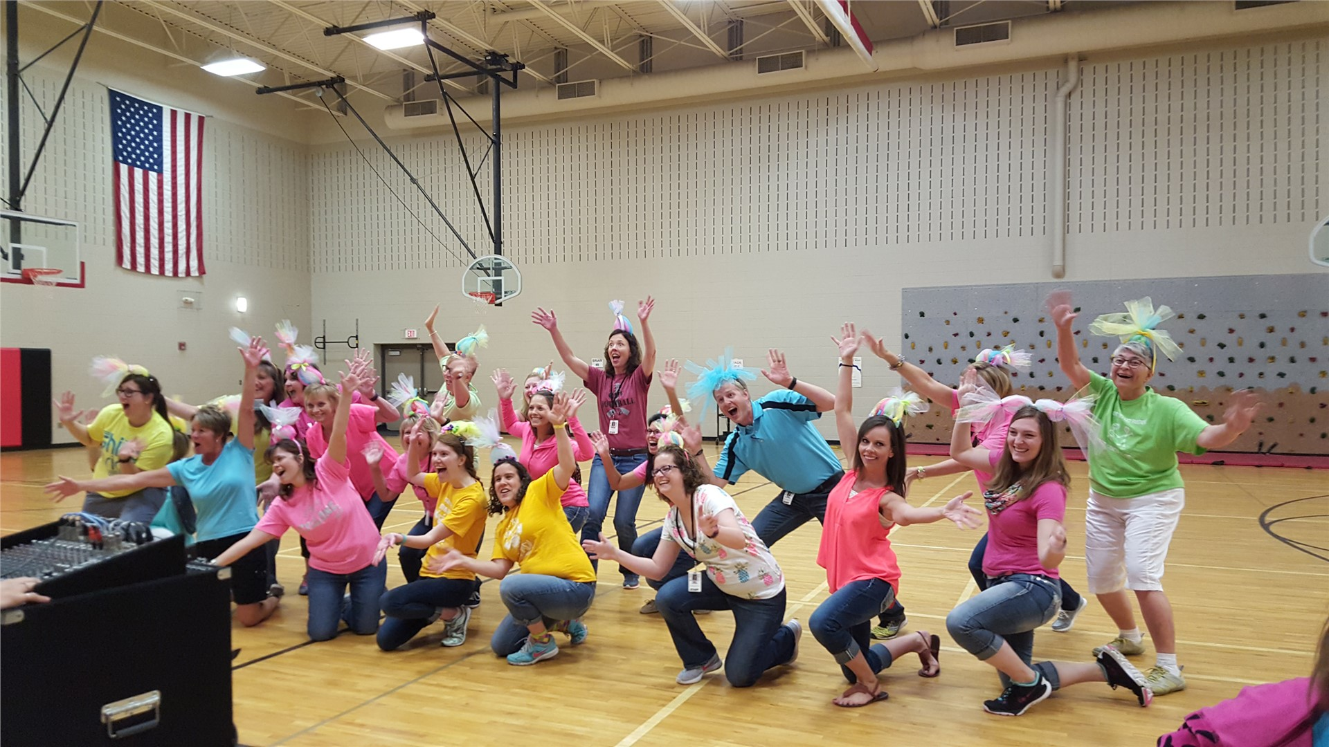 GHVE teachers bid a fun farewell on the last day of school!