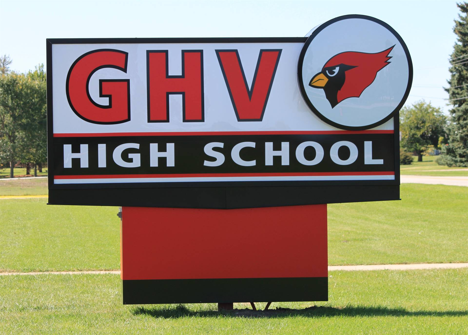 GHV High School sign