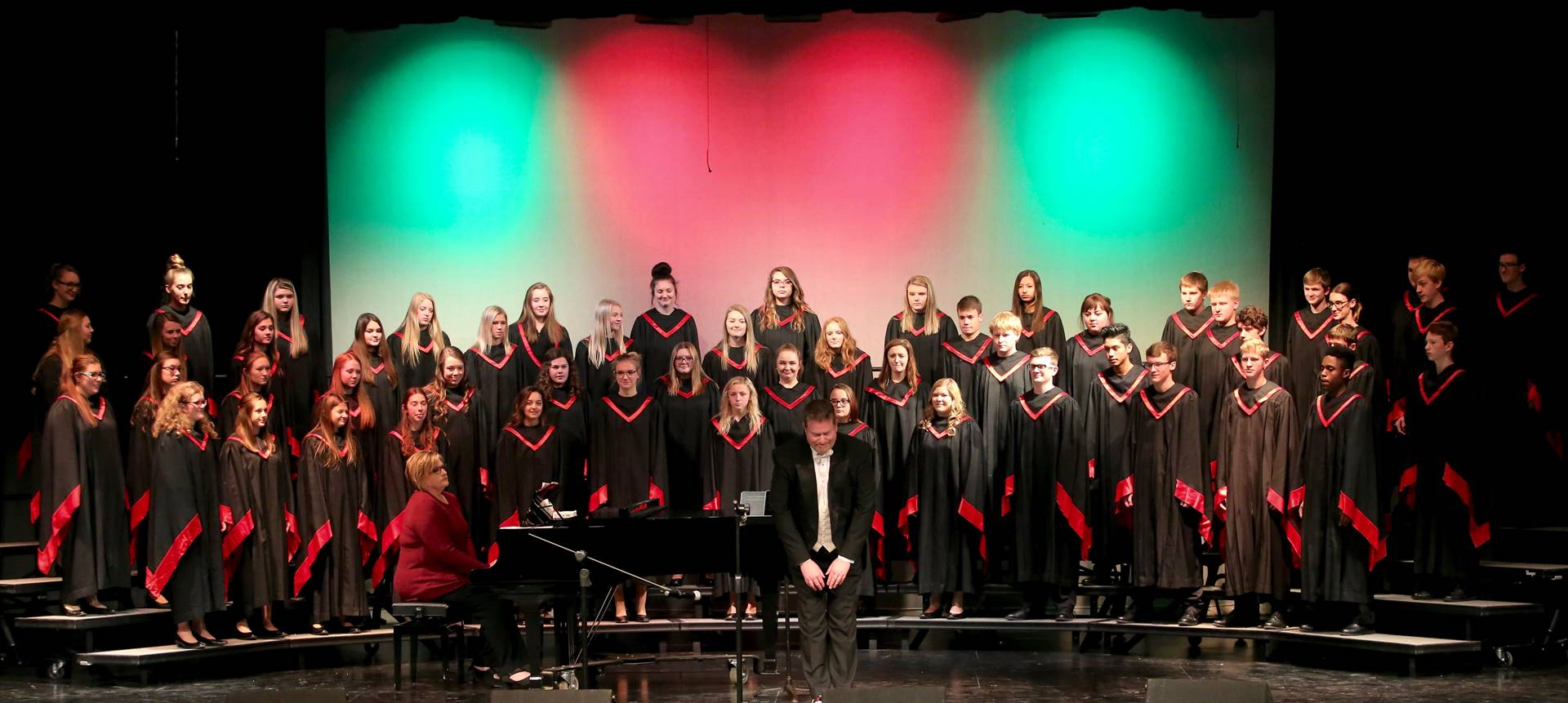 High school choir on risers