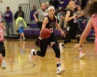 Basketball player dribbling the basketball