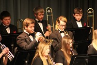 High school band on stage