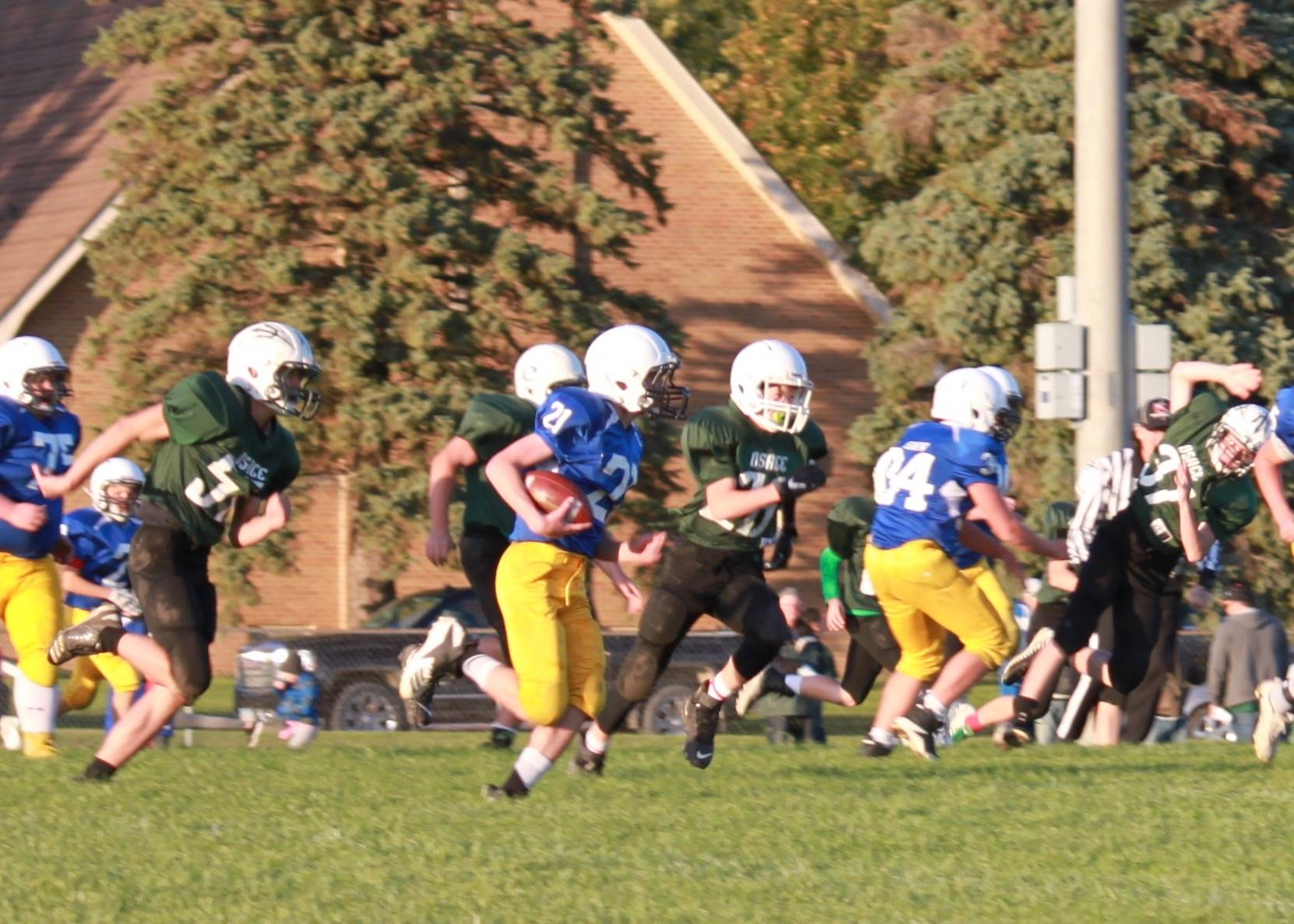 football players competing in a game