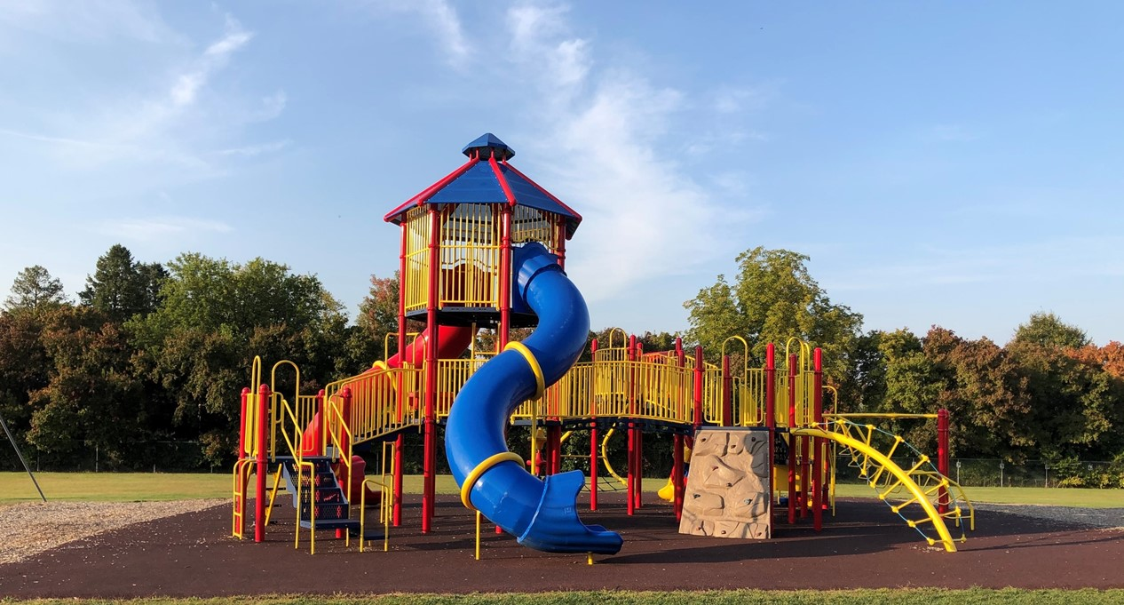 photo of elementary school playground equipment