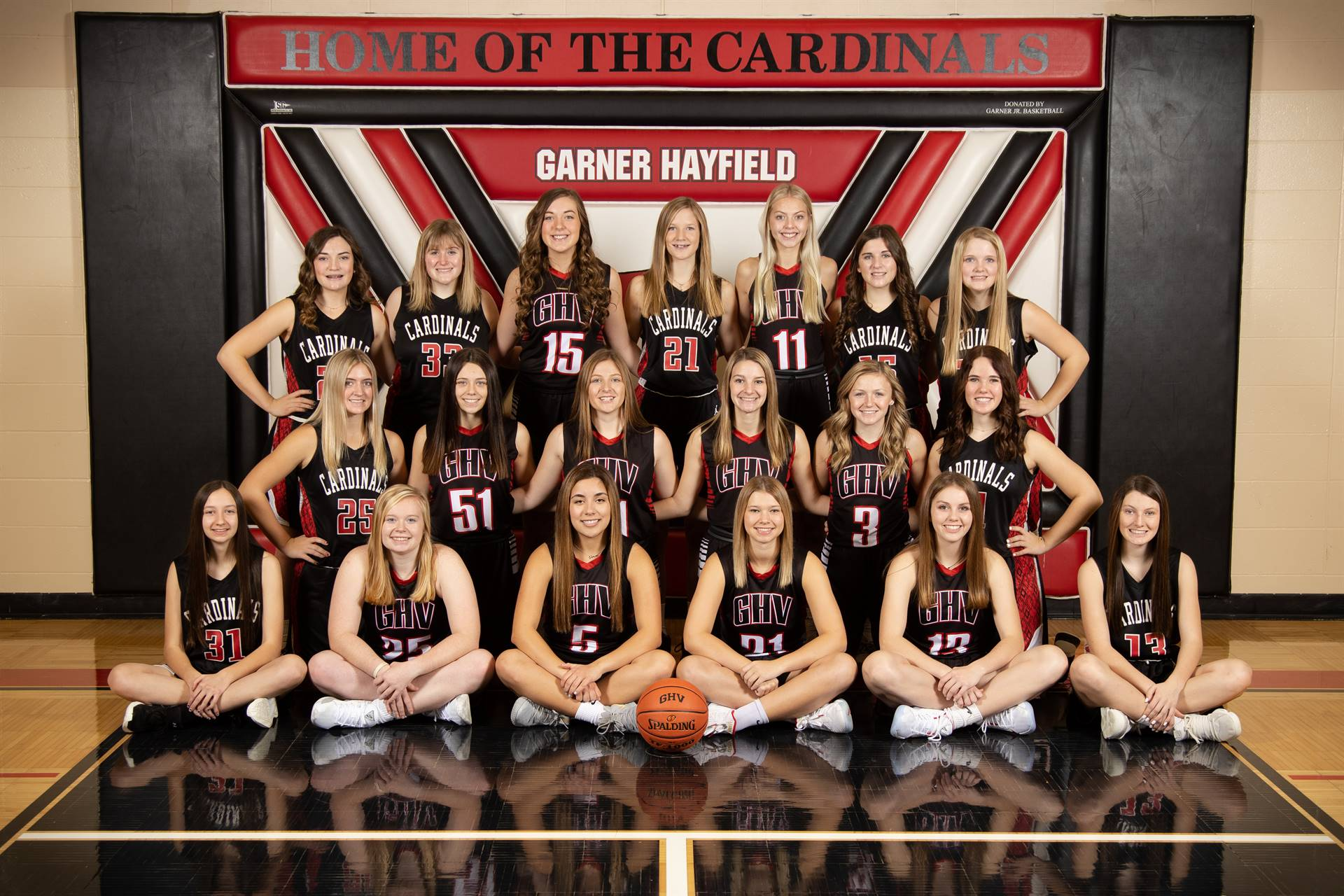 Girls Basketball team posing for a photo