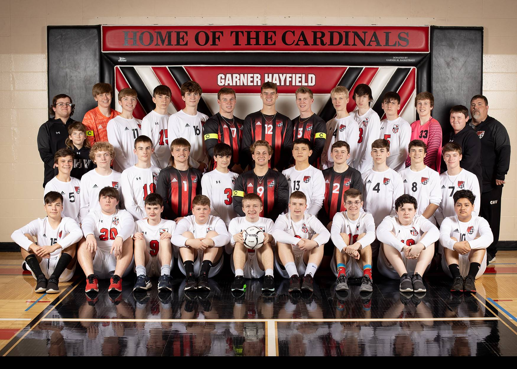 Boys soccer team posing for a photo